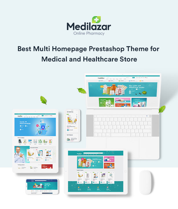 Leo Medilazar Best Multi Homepage Prestashop Theme for Medical and Healthcare Store