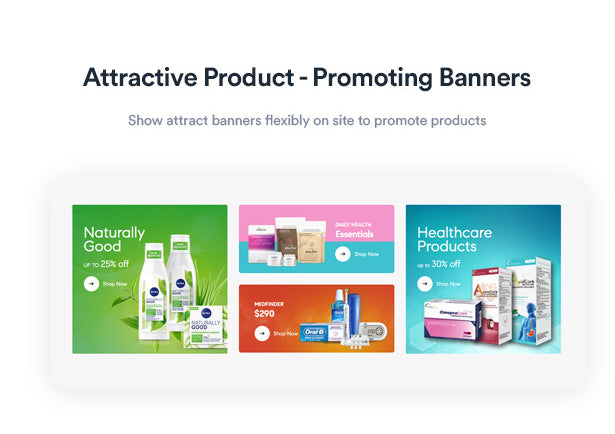 Attractive Product - Promoting Banners Show attract banners flexibly on site to promote products