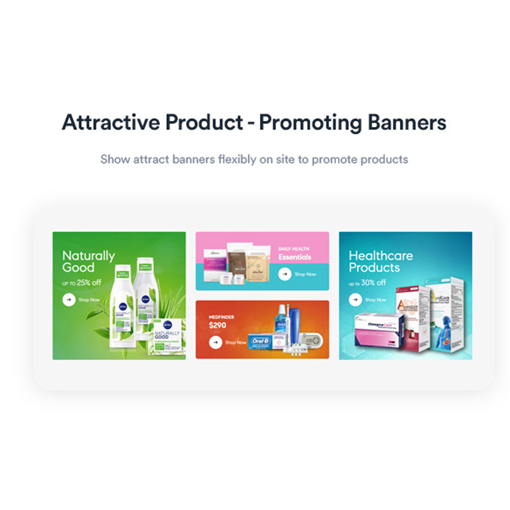 Attractive Product - Promoting BannersShow attract banners flexibly on site to promote products