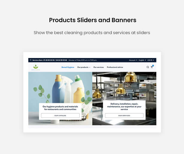 Products Sliders and Banners