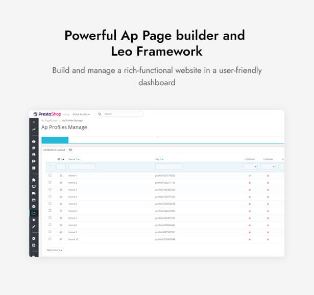 Powerful Ap Page builder and Leo Framework Build and manage a rich-functional website in a user-friendly dashboard