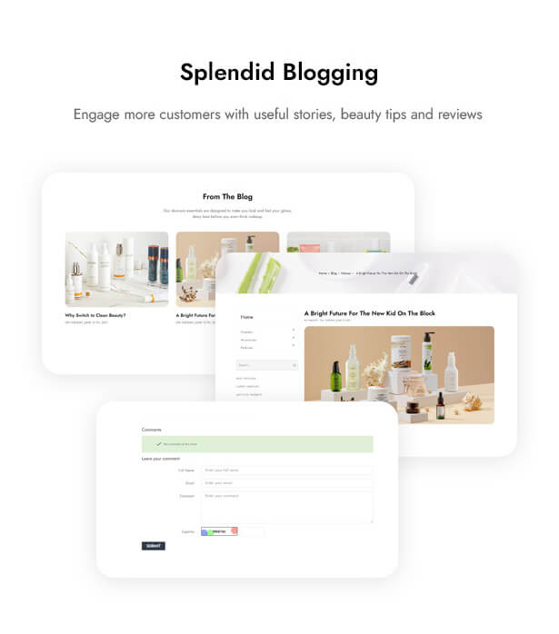 Splendid Blogging Engage more customers with useful stories, beauty tips and reviews