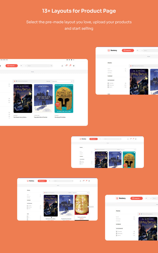 13+ Layouts for Product Page Select the pre-made layout you love, upload your products and start selling