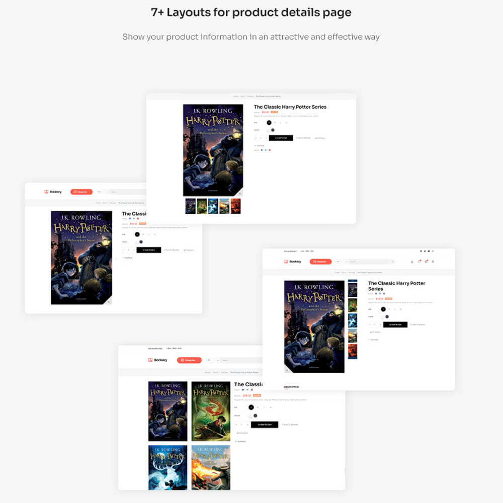 7+ Layouts for product details page Show your product information in an attractive and effective way
