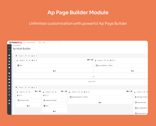 Ap Page Builder Module Unlimited customization with powerful Ap Page Builder