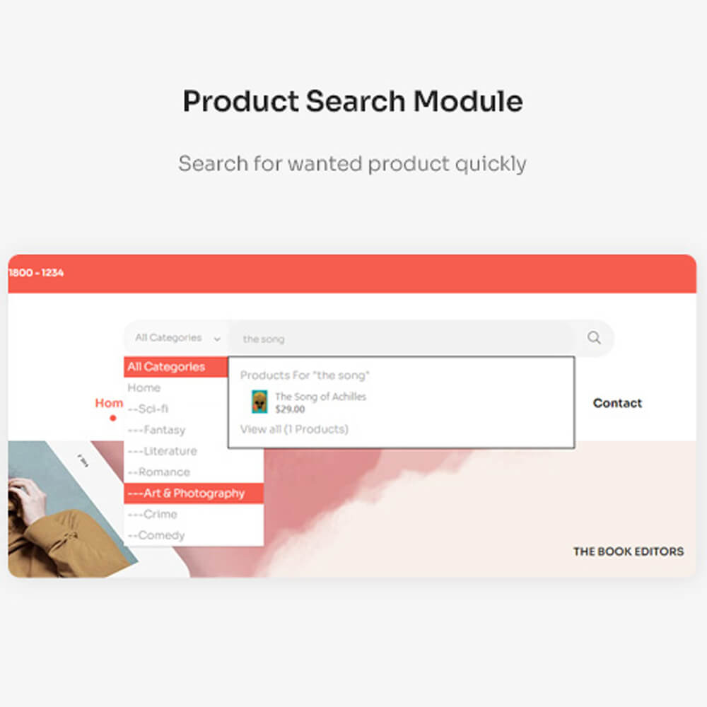 Product Search Module Search for wanted product quickly