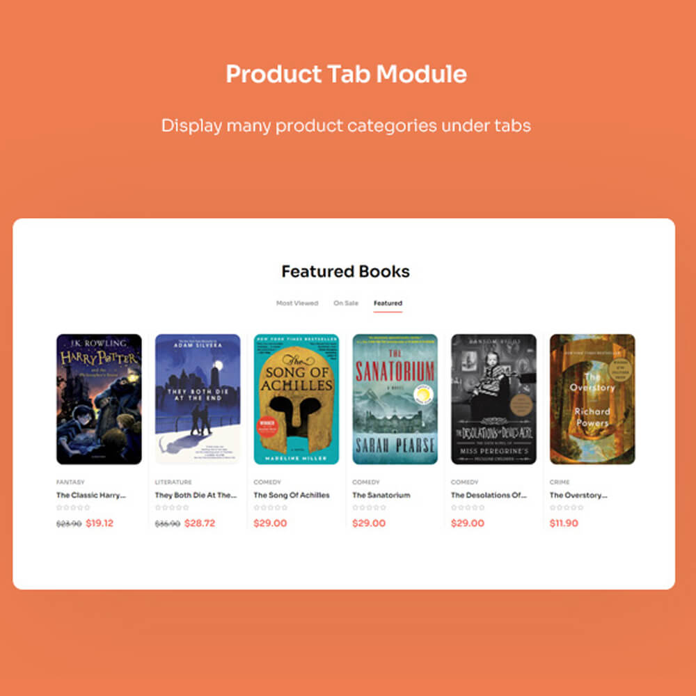 Product Tab Module Display many product categories under tabs