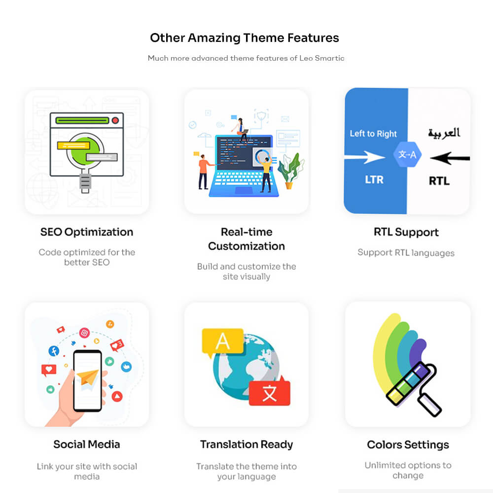 Rich built-in features for Online Shop & Store Make everything easier for any online store owners and shopper