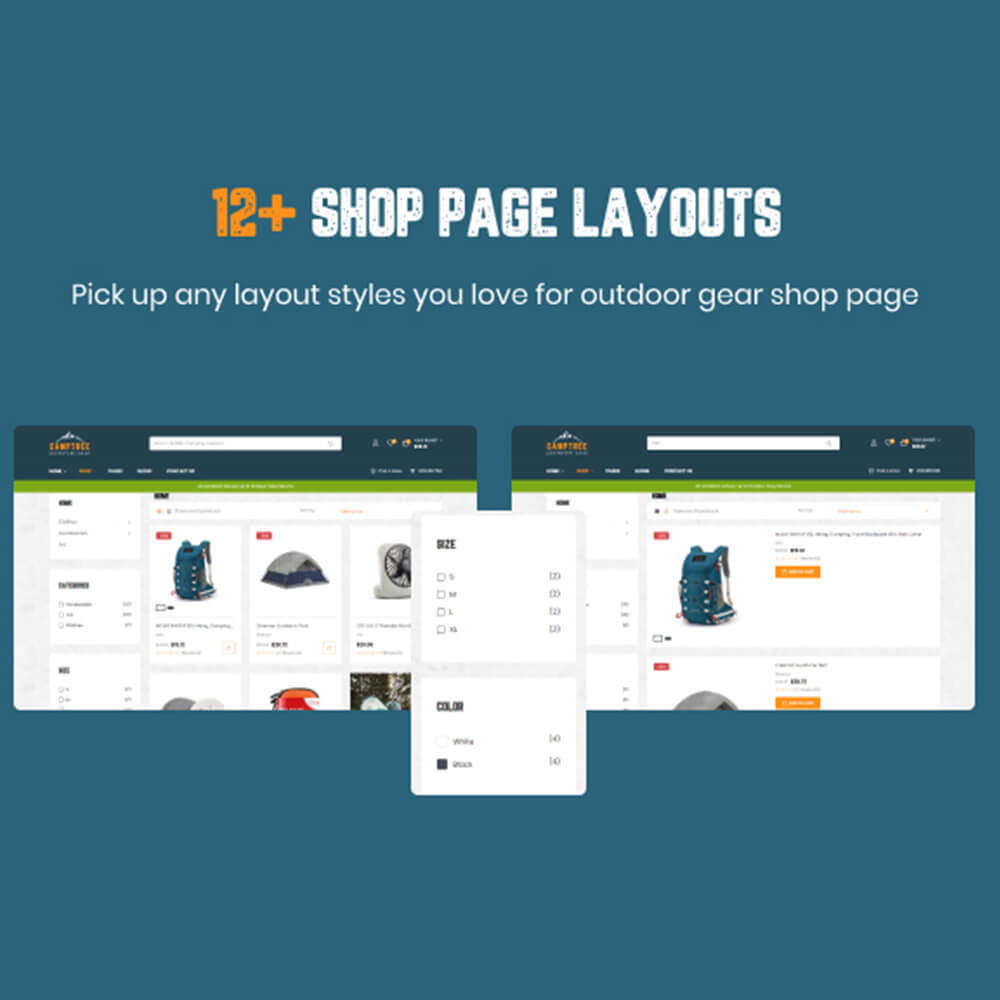 12+ Shop page layouts