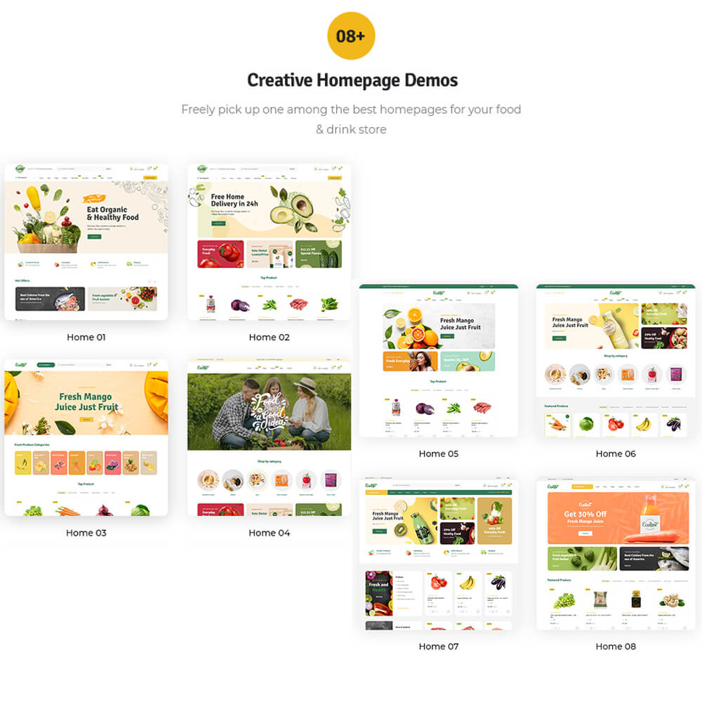 08+ creative homepage demosFreely pick up one among the best homepages for your food & drink store