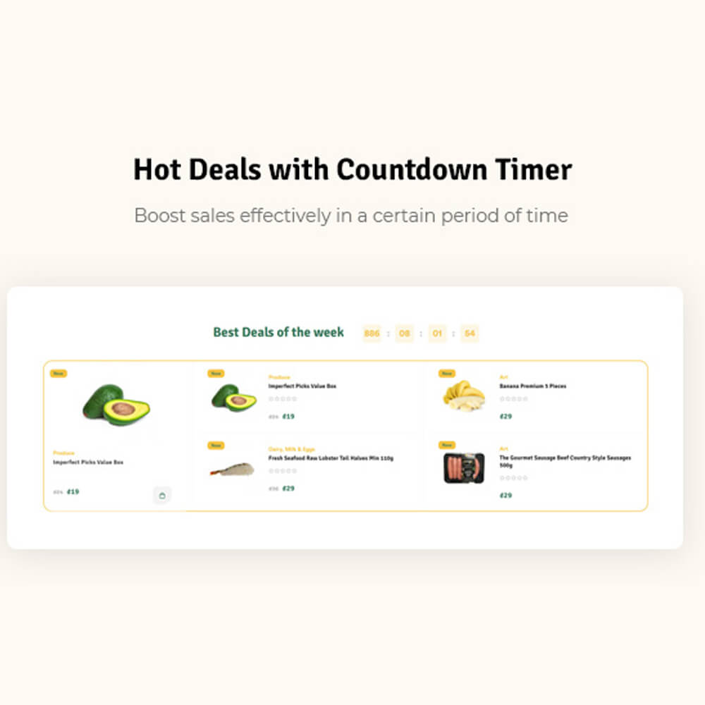 Hot Deals with Countdown Timer Boost sales effectively in a certain period of time
