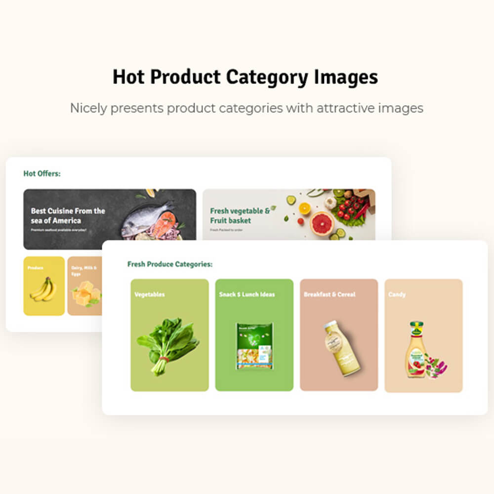 Hot Product Category Images Nicely presents product categories with attractive images
