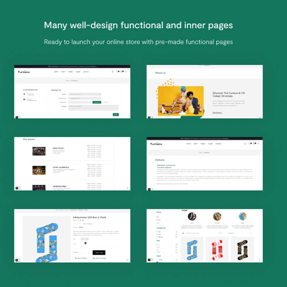 Many well-design functional and inner pages