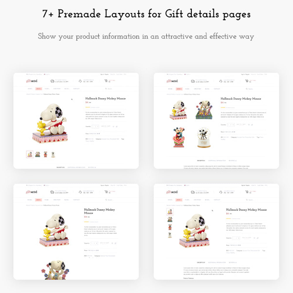 7+ Premade Layouts for Gift details pages Show your product information in an attractive and effective way