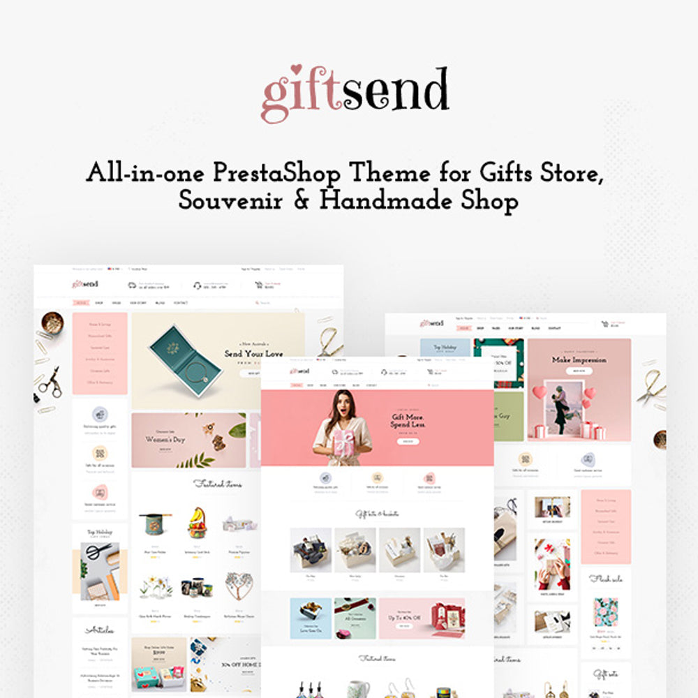 LEO GIFTSEND All-in-one PrestaShop Theme for Gifts Store, Souvenir & Handmade Shop
