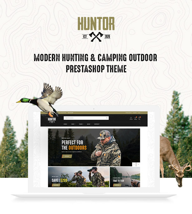 Leo Huntor Modern Hunting & Camping Outdoor Prestashop Theme