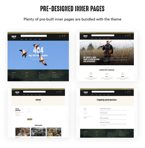 Pre-designed Inner Pages