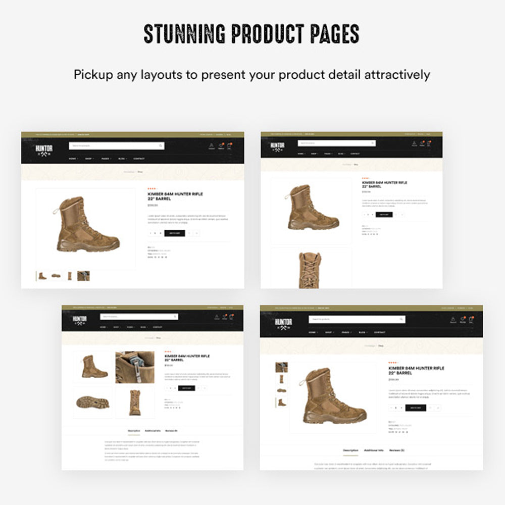 Stunning Product Pages Pickup any layouts to present your product detail attractively