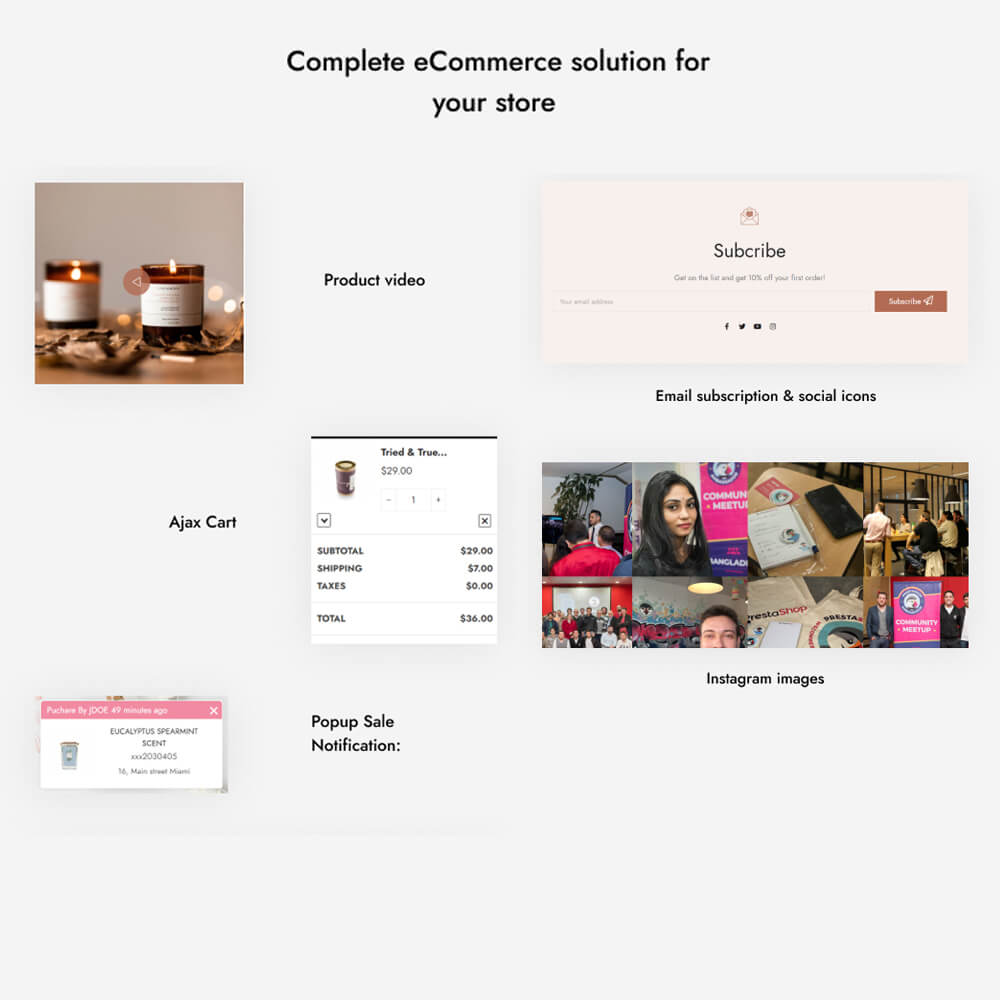 Complete eCommerce solution for your store