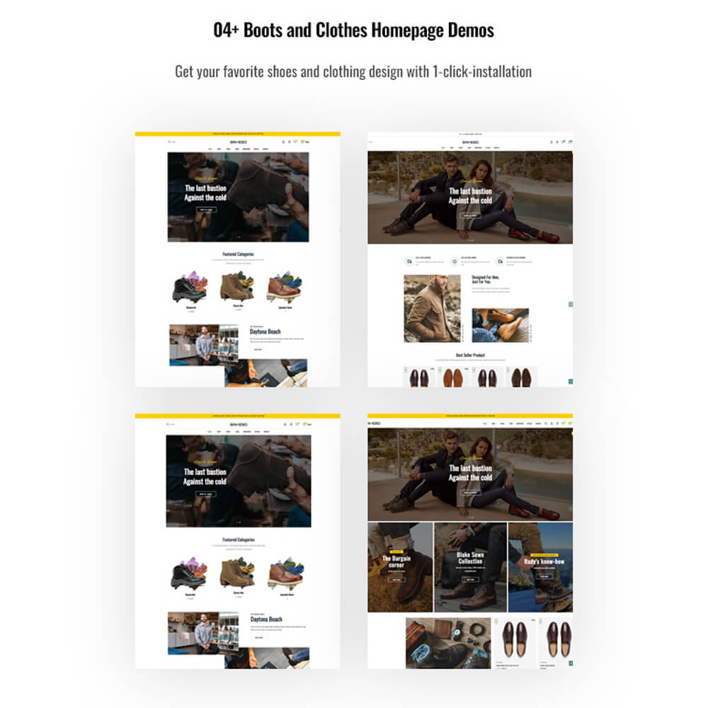 04+ Boots and Clothes Homepage Demos