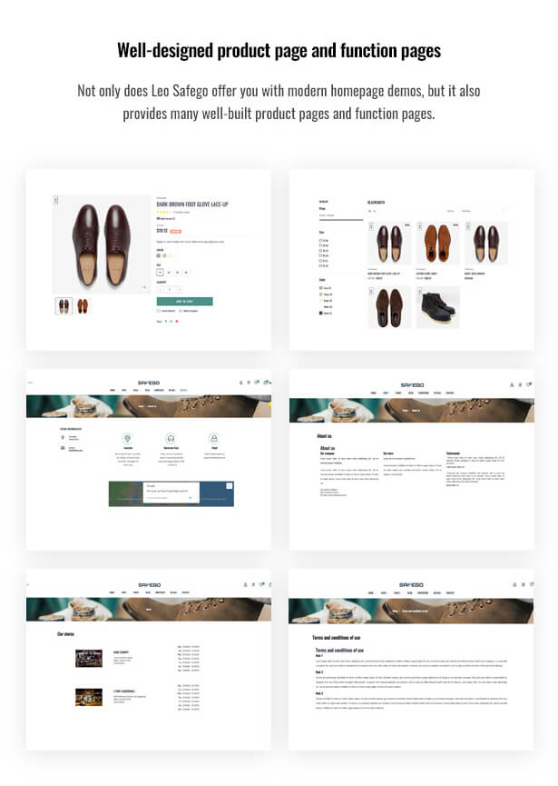 Well-designed product page and function pages