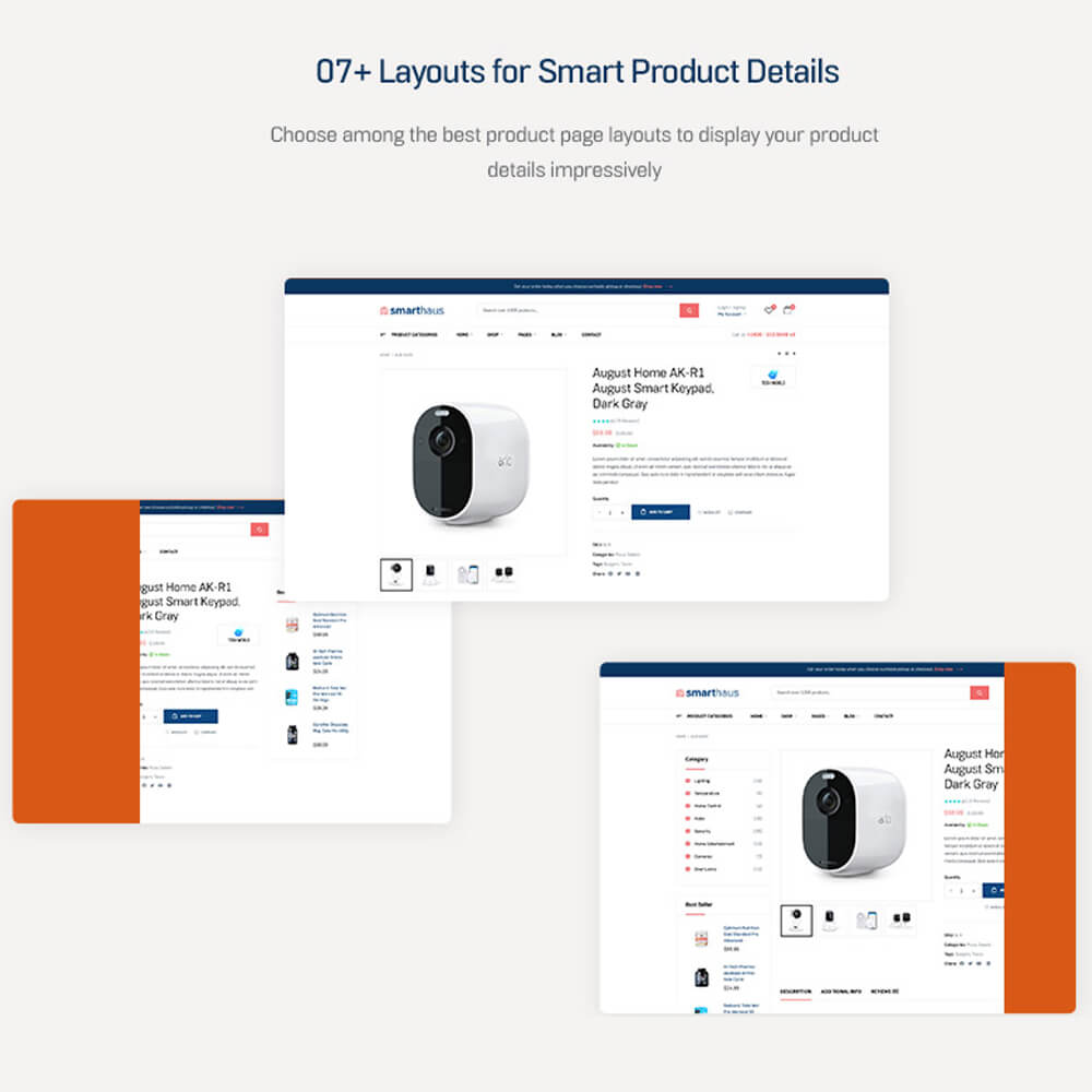 07+ Layouts for Smart Product DetailsChoose among the best product page layouts to display your product details impressively