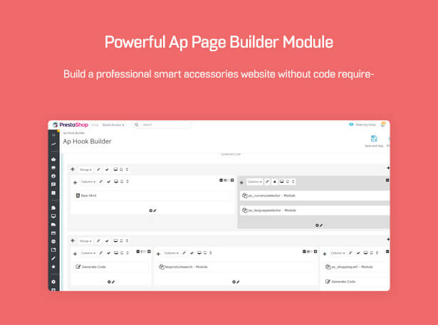 Powerful Ap Page Builder Module Build a professional smart accessories website without code requirement