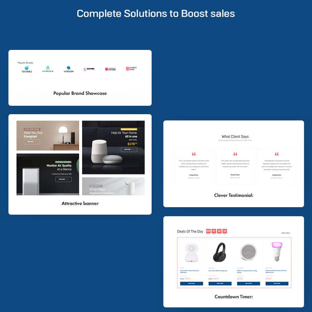 Complete Solutions to Boost sales