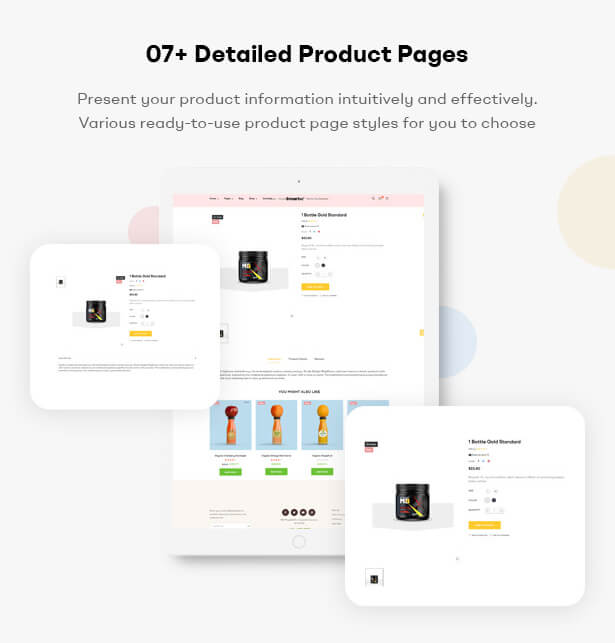 07+ Detailed Product Pages Present your product information intuitively and effectively. Various ready-to-use product page styles for you to choose