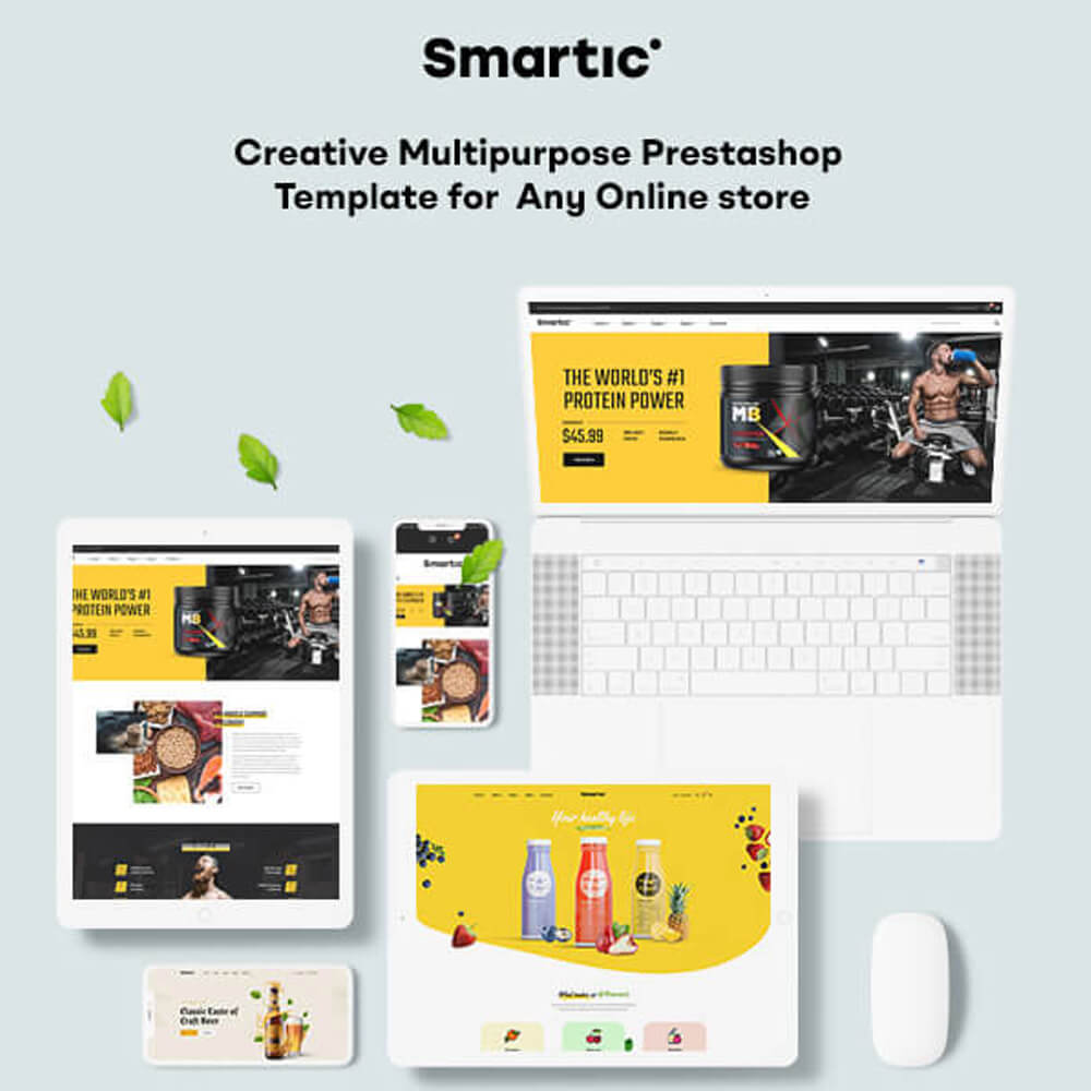 LEO SMARTICStart selling anything online with SMARTIC - creative multipurpose Prestashop theme