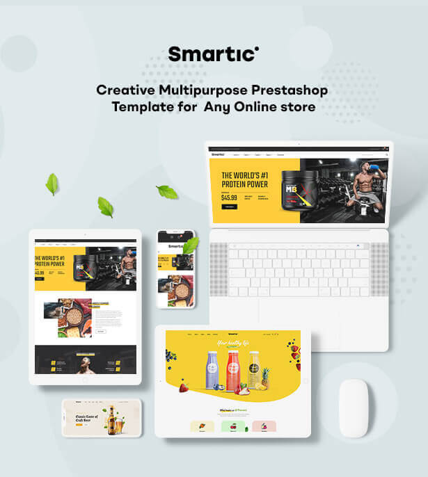 LEO SMARTIC Start selling anything online with SMARTIC - creative multipurpose Prestashop theme