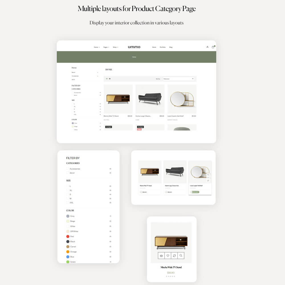 Multiple layouts for Product Category Page