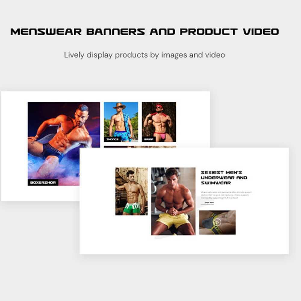Menswear Banners and Product Video