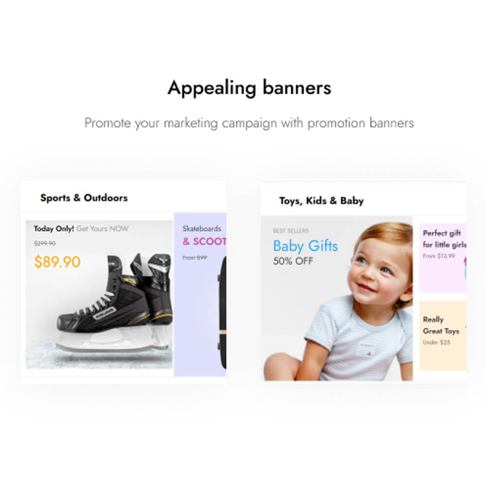 Appealing banners