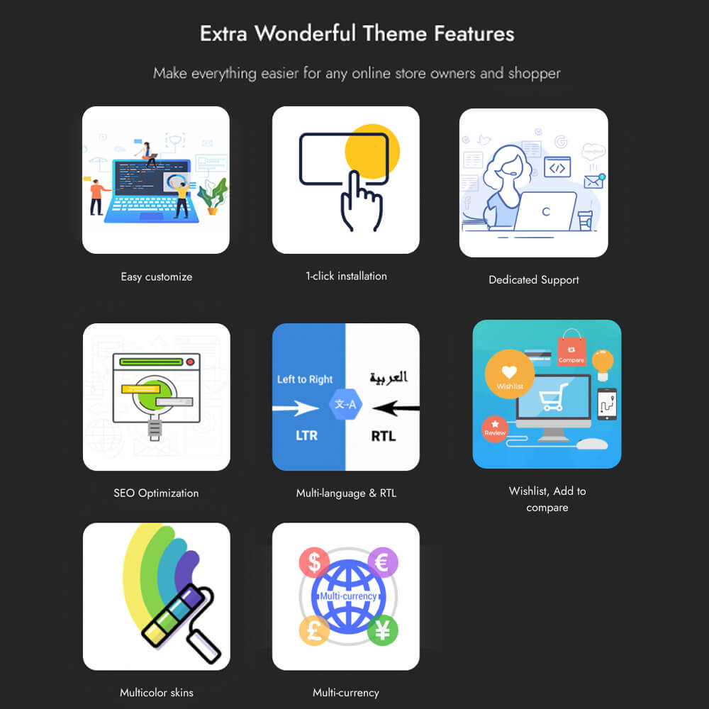 Extra Wonderful Theme Features