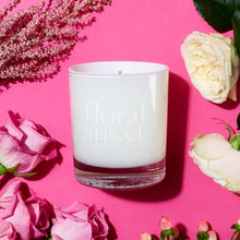 White rose vegan scented candle 200g