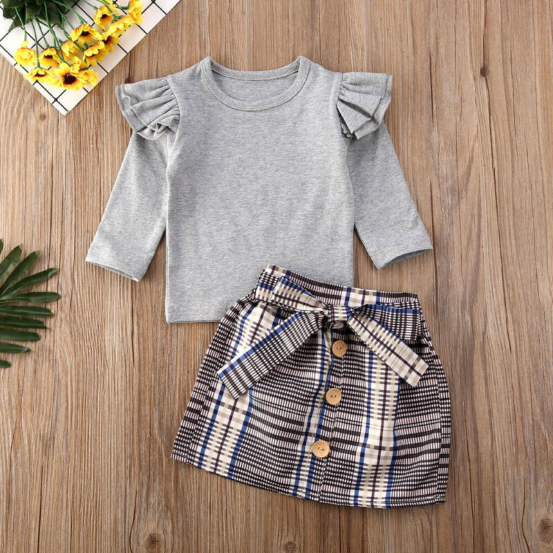 Girls Plaid Set
