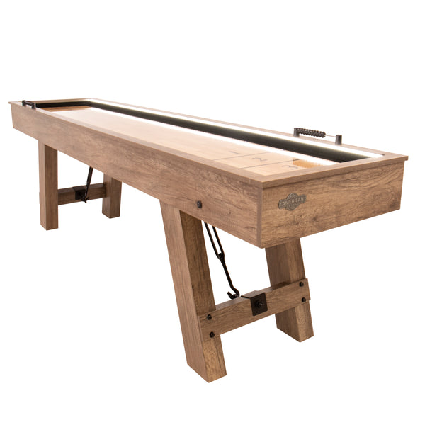 American Legend Brookdale 9' LED Light Up Shuffleboard Table_1