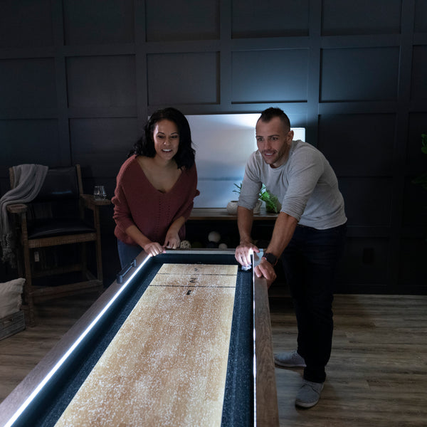 American Legend Brookdale 9' LED Light Up Shuffleboard Table_2