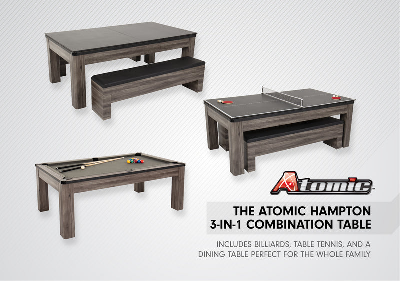 Atomic Hampton 3 In 1 Pool/Table Tennis Dining Table_3