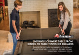 Atomic Hampton 3 In 1 Pool/Table Tennis Dining Table_6