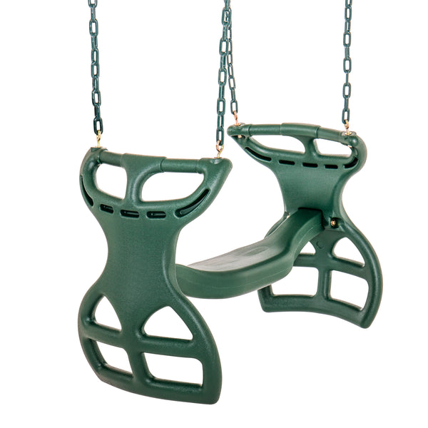 Jack and June Two Seater Glider Swing - Green_1