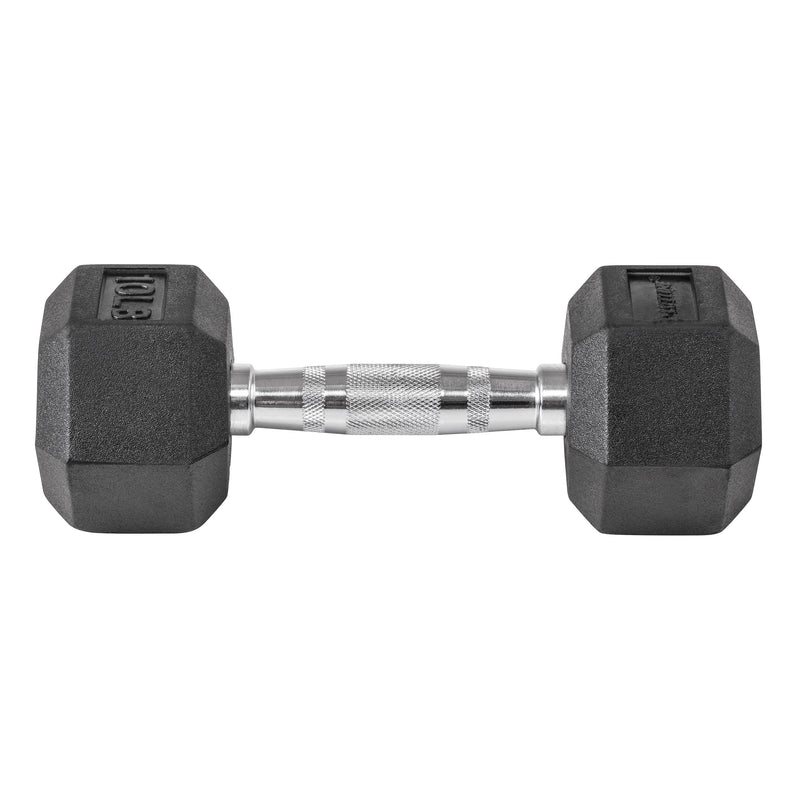 Lifeline Hex Rubber Dumbbell - 10 LBS_1