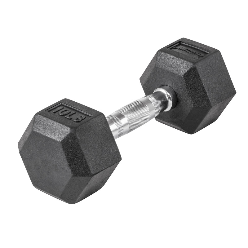 Lifeline Hex Rubber Dumbbell - 10 LBS_5