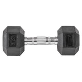 Lifeline Hex Rubber Dumbbell - 15 LBS_3