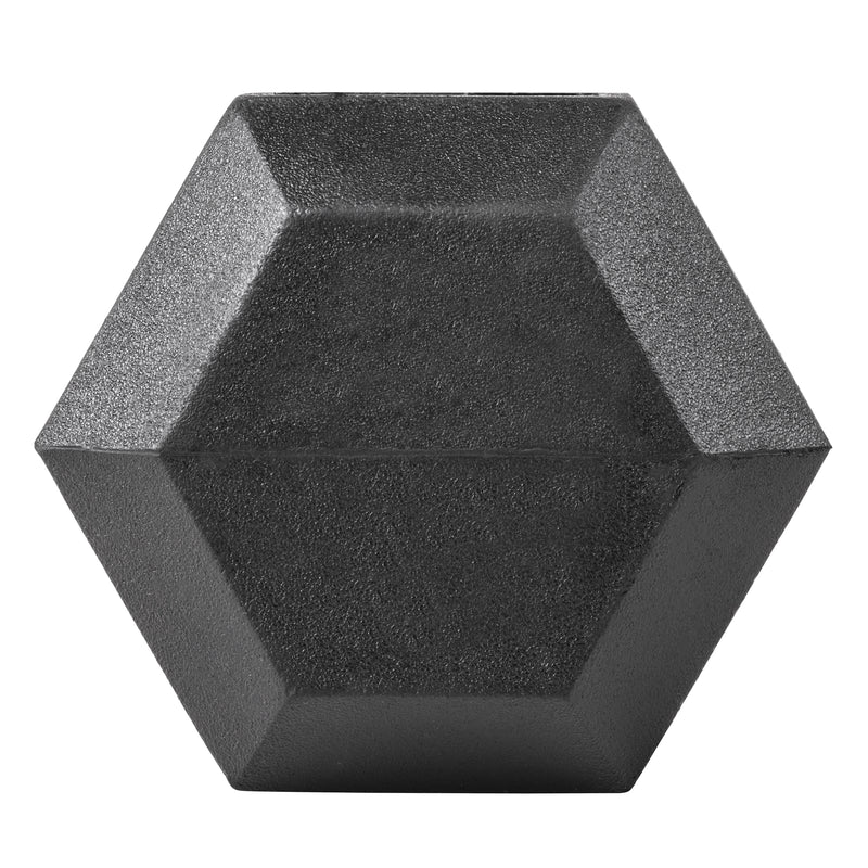 Lifeline Hex Rubber Dumbbell - 15 LBS_4