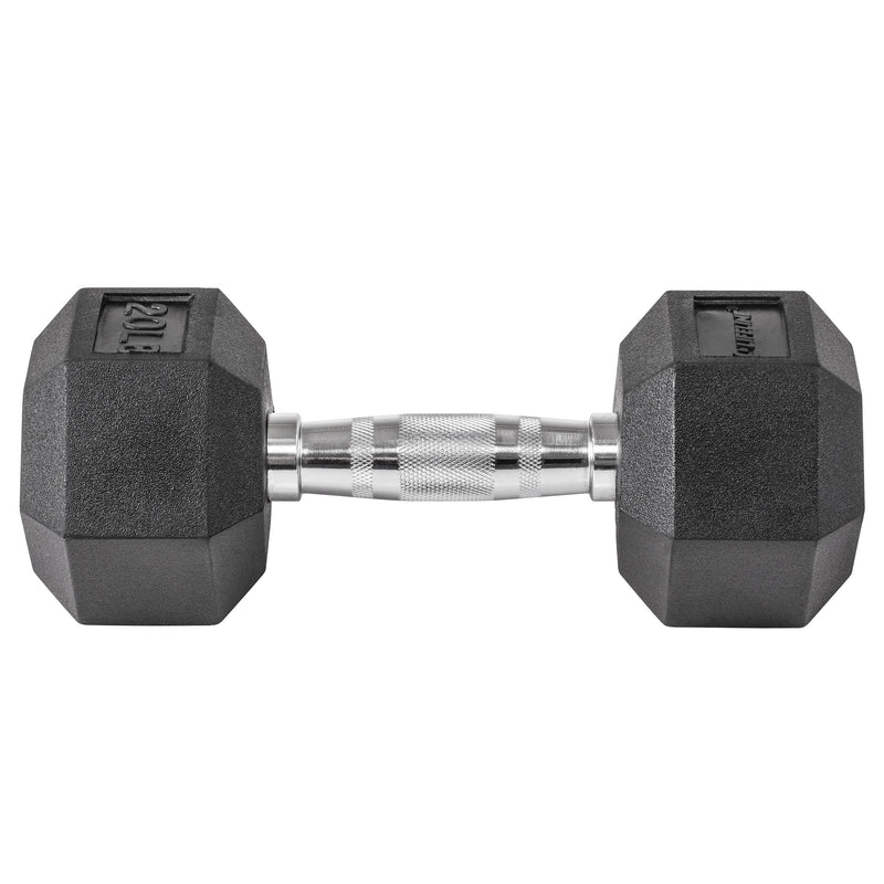 Lifeline Hex Rubber Dumbbell - 20 LBS_1