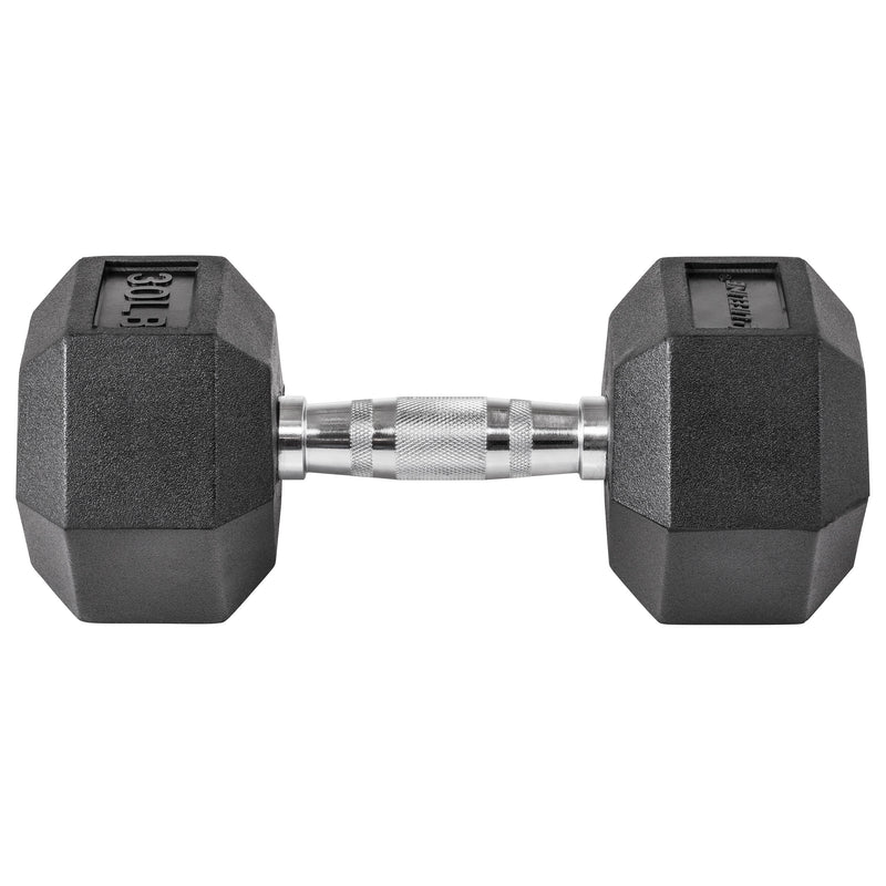 Lifeline Hex Rubber Dumbbell - 30 LBS_12