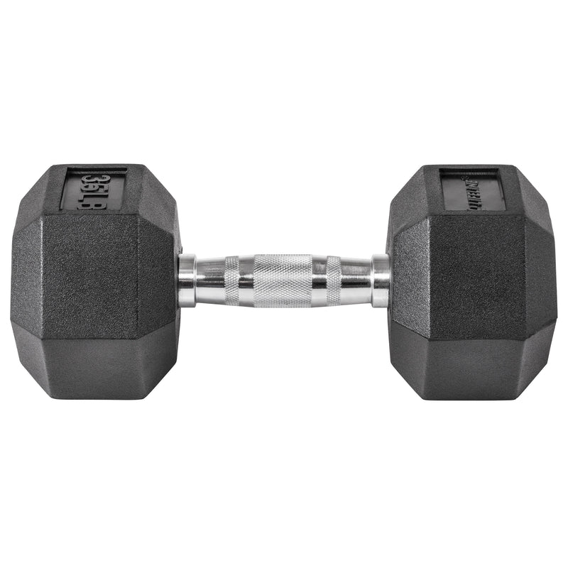 Lifeline Hex Rubber Dumbbell - 35 LBS_1