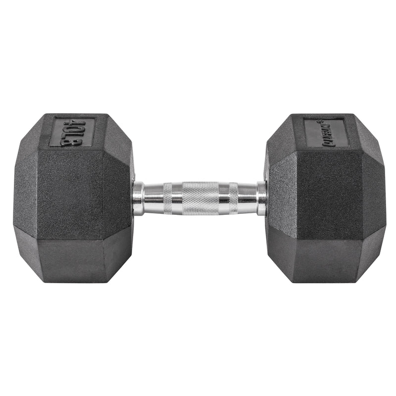 Lifeline Hex Rubber Dumbbell - 40 LBS_12